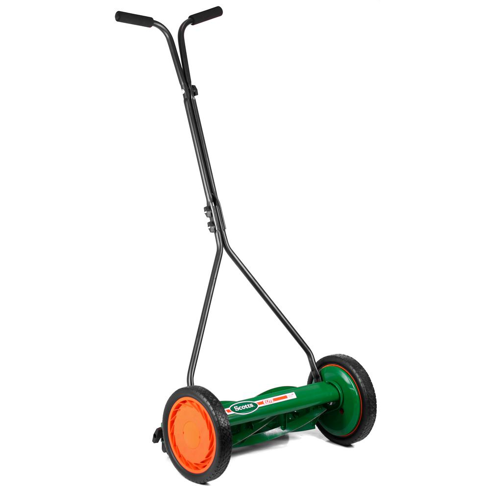 Scotts Scott S 16 In Manual Walk Behind Push Reel Lawn Mower