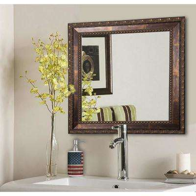 32 5 In X Roman Copper Bronze Square Vanity Wall Mirror