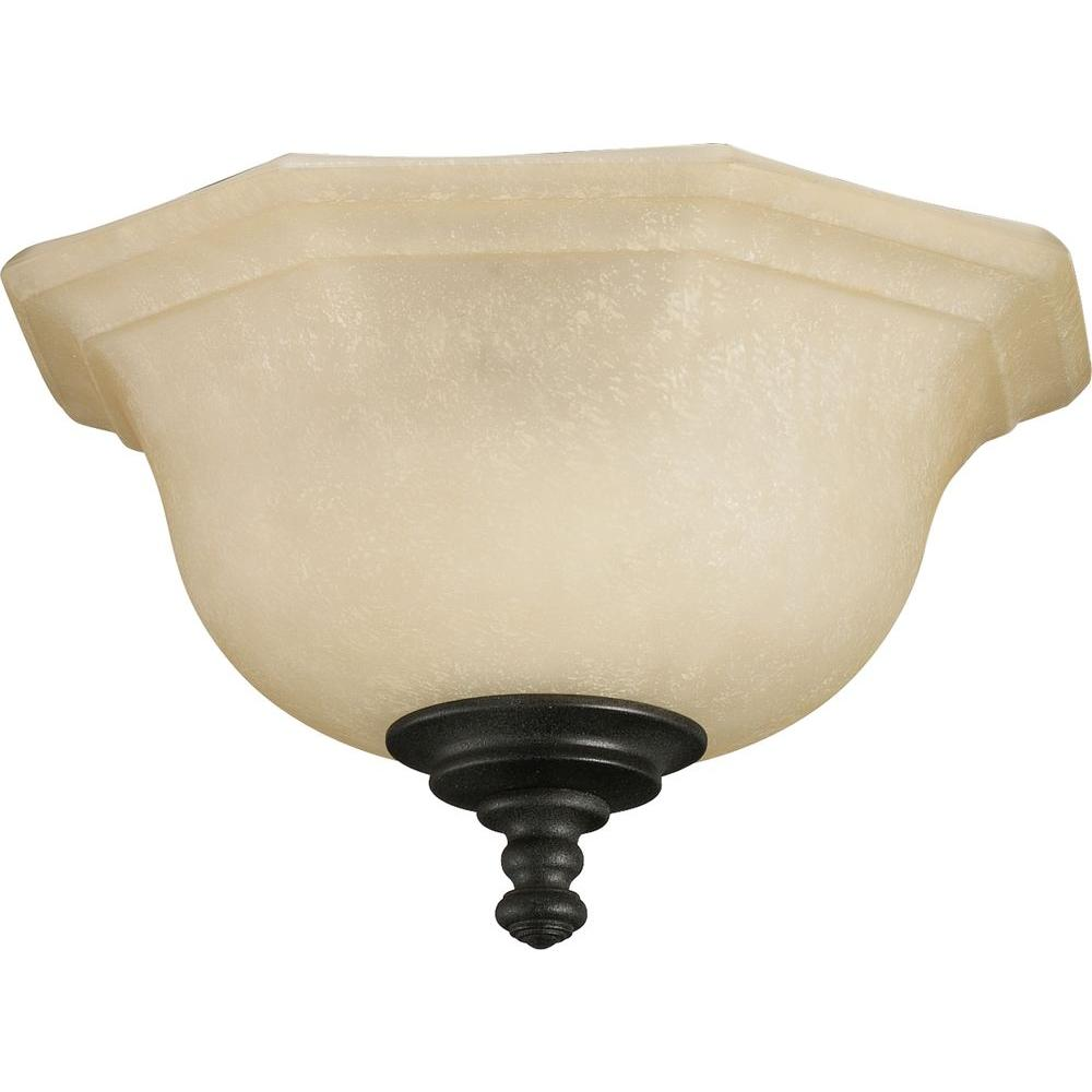Thomasville Lighting Guildhall Collection 3-Light Forged Black Ceiling Fan Light-DISCONTINUED