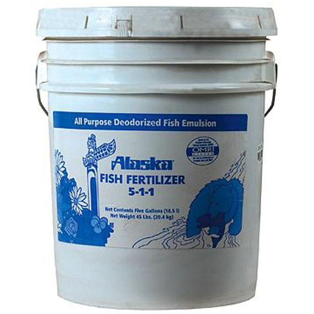Alaska 640 oz. 5-1-1 Liquid Fish Emulsion Fertilizer