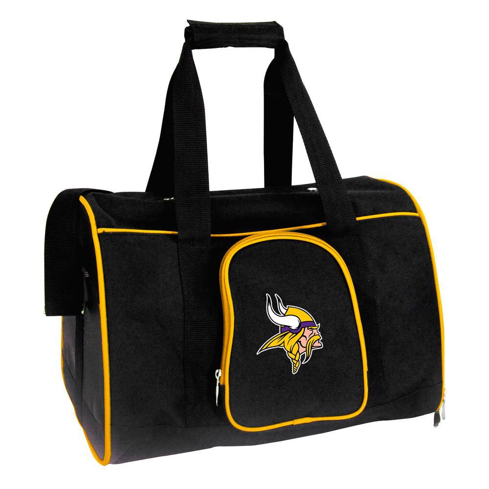 Denco NFL Minnesota Vikings Pet Carrier Premium 16 in. Bag in Yellow, Team Color