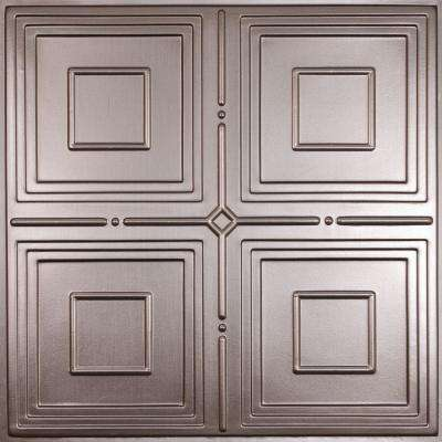 Jackson Faux Tin 2 ft. x 2 ft. Lay-in or Glue-up Ceiling Panel (Case of 6)