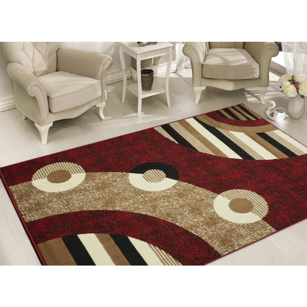 Sweet home stores clifton collection modern circles design for 7 x 9 dining room rugs