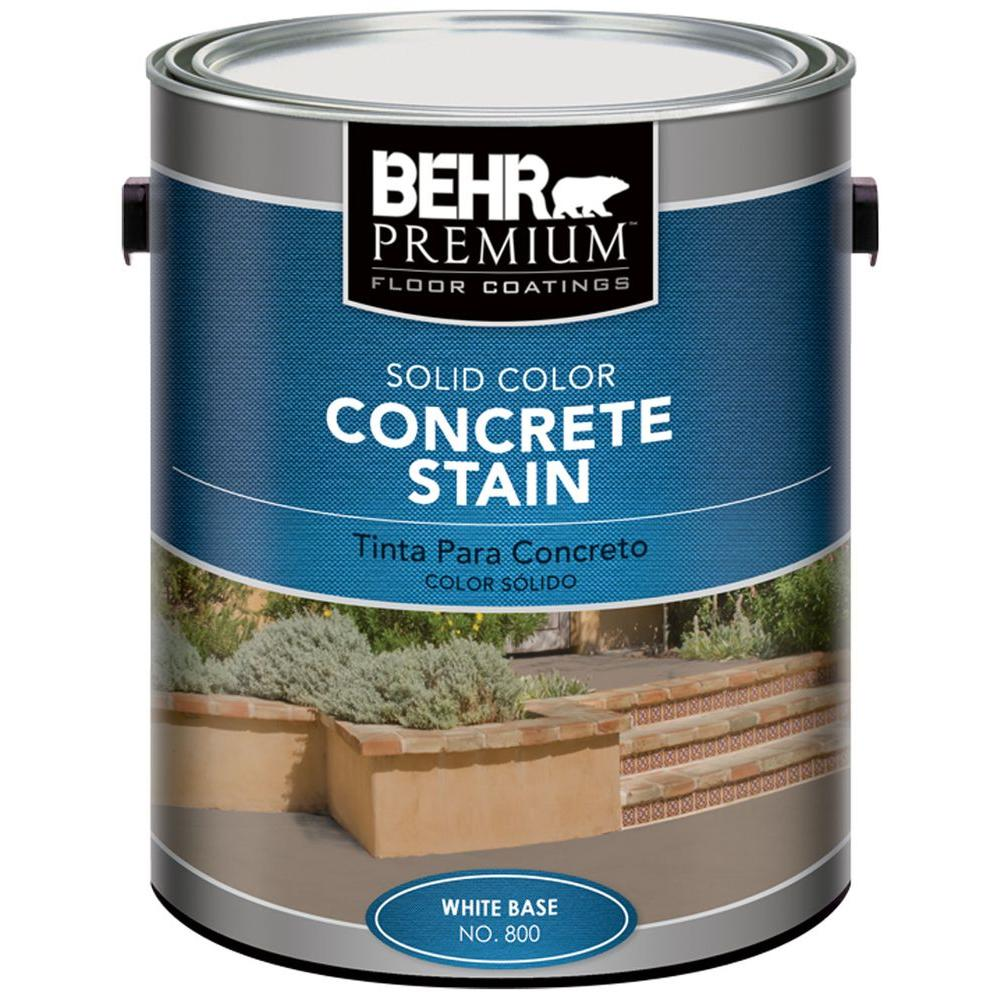 BEHR Premium 1 gal. White Solid Color Concrete Stain