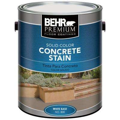 1 gal. White Solid Color Concrete Stain