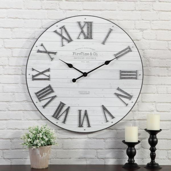 27 in. Emmett Shiplap Clock