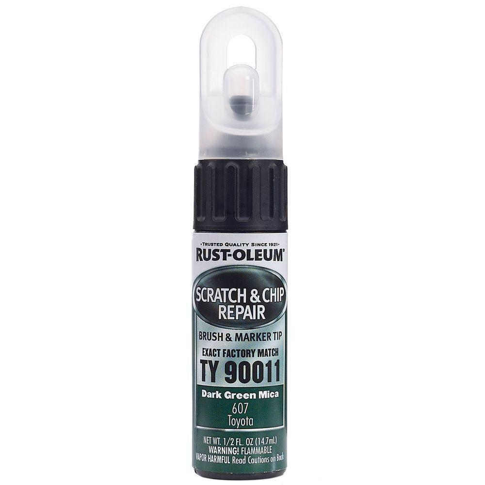 0.5 oz. Dark Green Mica Scratch and Chip Repair Marker (6-Pack)