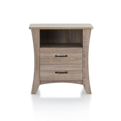 Amelia 2-Drawer 24 in. x 16 in. x 24 in. Rustic Natural Particle Board Nightstand