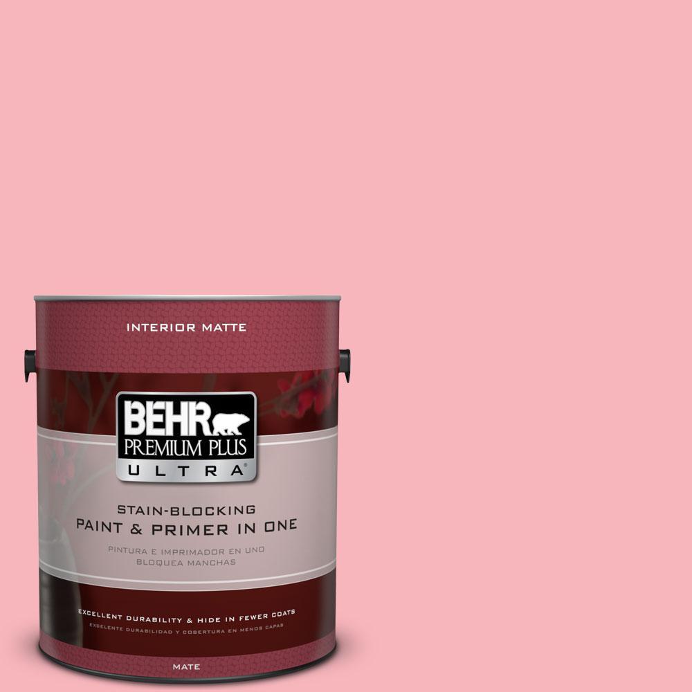 1 gal. #130A-3 Ballerina Pink Flat/Matte Interior Paint