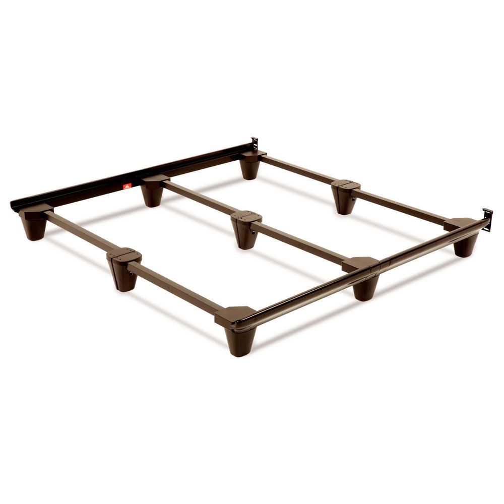 Presto Universal Size Steel Bed Frame, Mahogany
