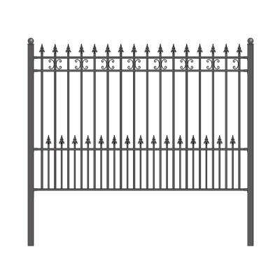Iron Fence Panels >> Black Metal Fence Panels Metal Fencing The Home Depot