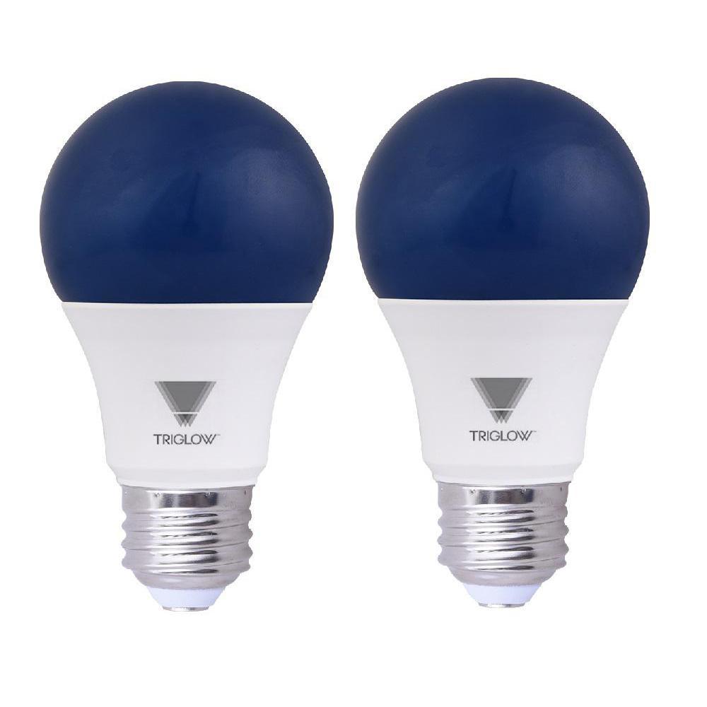 60-Watt Equivalent A19 Blue LED Light Bulb (2-Pack)