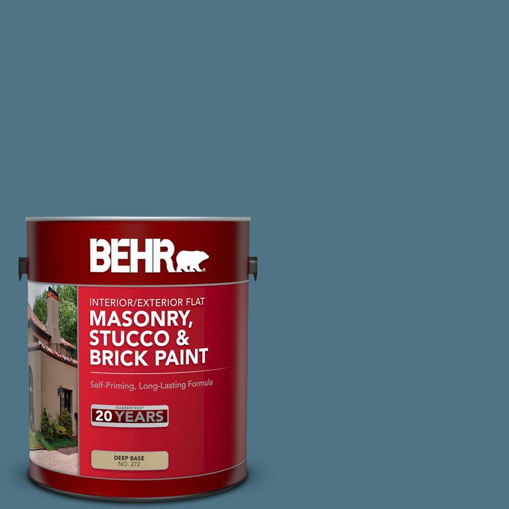 1 gal. #SC-107 Wedgewood Flat Interior/Exterior Masonry, Stucco and Brick Paint