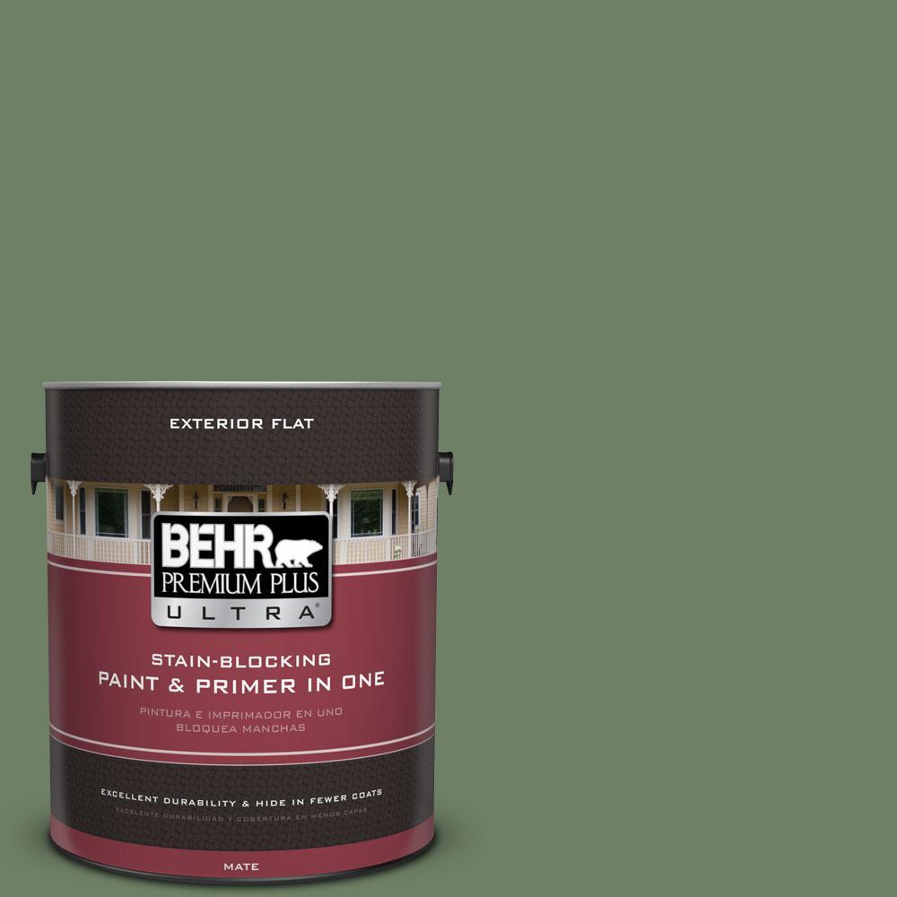 BEHR Premium Plus Ultra 1-gal. #S390-6 Cliffside Park Flat Exterior Paint