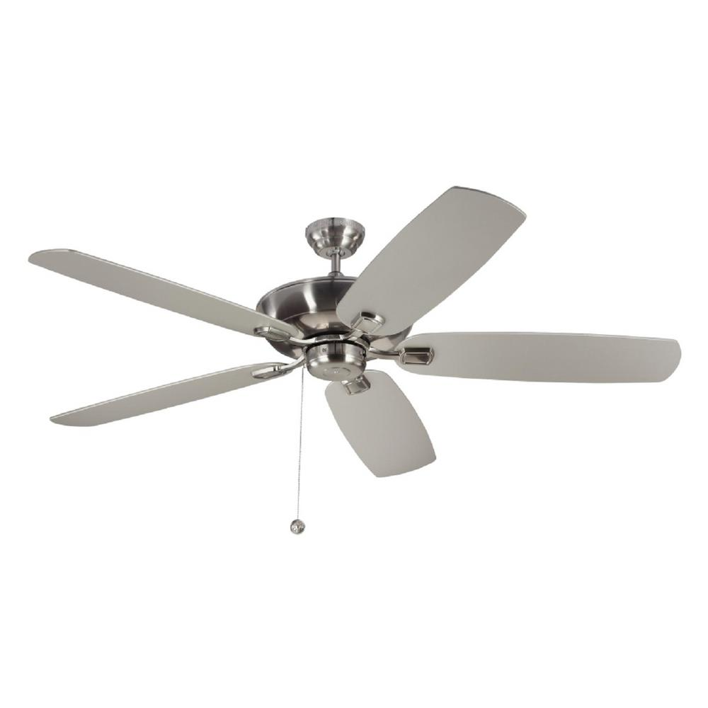 Monte Carlo Colony Super Max 60 In Brushed Steel Ceiling Fan