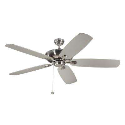 Colony Super Max 60 in. Brushed Steel Ceiling Fan