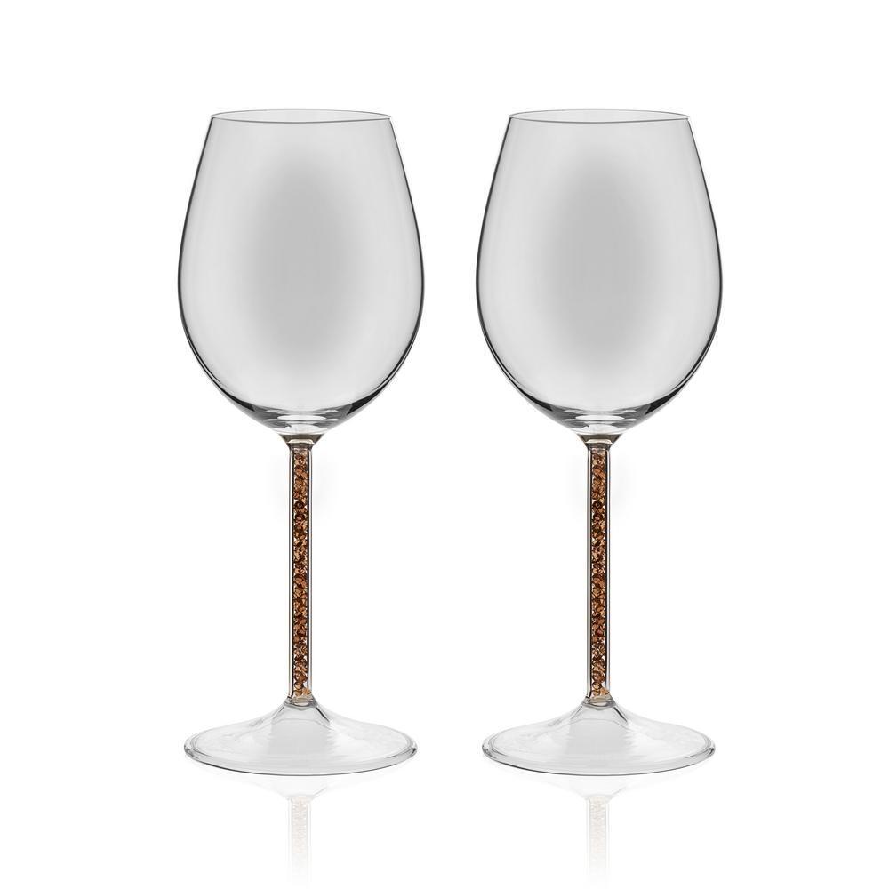 Glint 2-piece Gold Stem Wine Glass Set