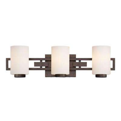 Del Ray 3-Light Flemish Bronze Interior Incandescent Bath Vanity Light