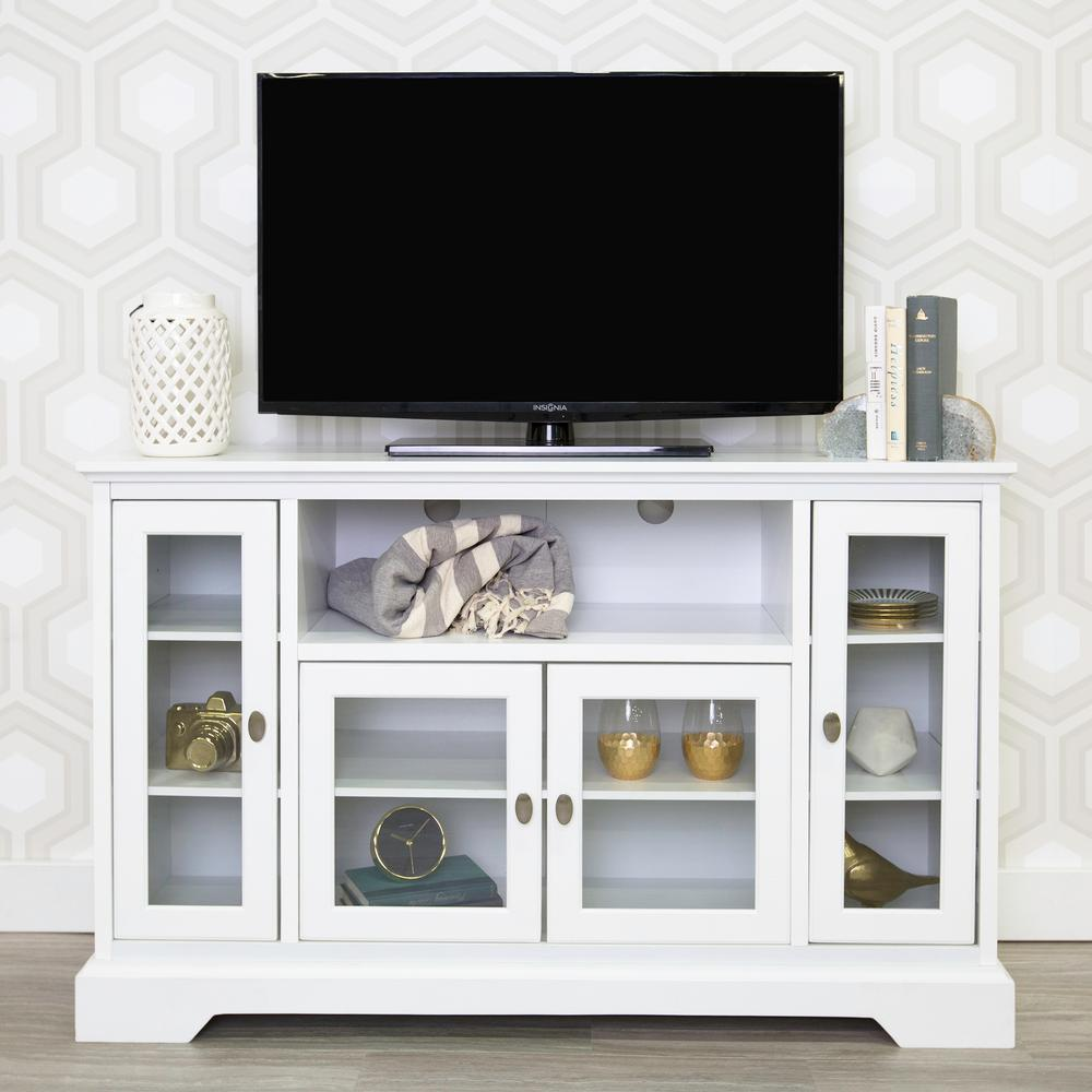 Walker Edison Furniture Company White Entertainment Center-HD52C32WH ...