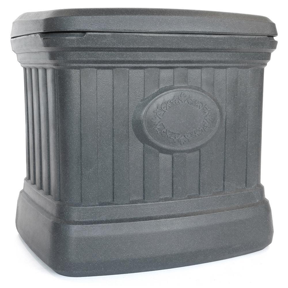5 cu. ft. Residential Sand and Salt Storage Bin in Granite Grey