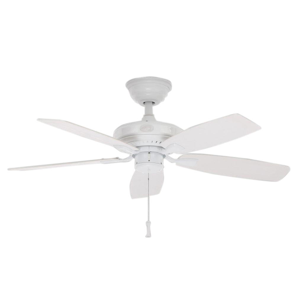 Hampton Bay Gazebo II 42 in. Indoor/Outdoor White Ceiling Fan-YG187 ... for Ceiling Fan Bottom View  51ane
