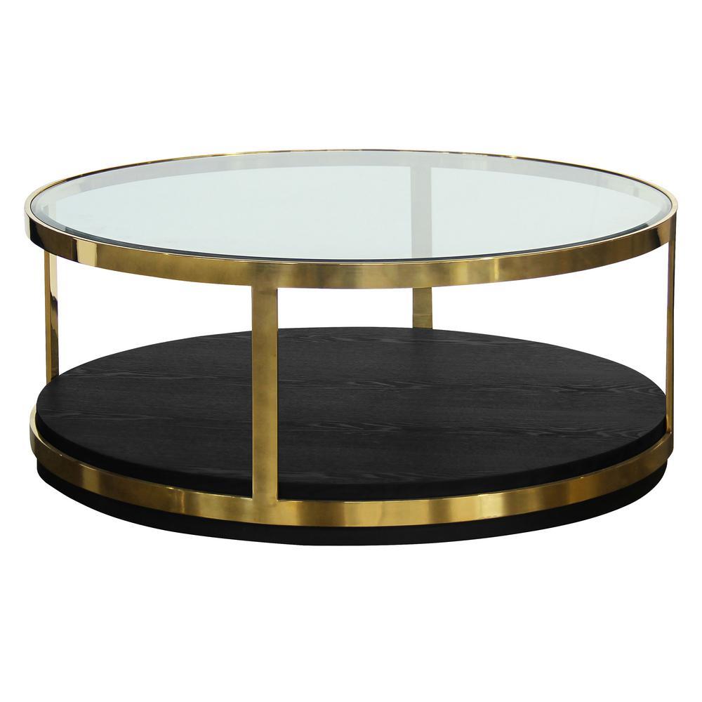 Armen Living Hattie Black Coffee Table LCHTCOBL