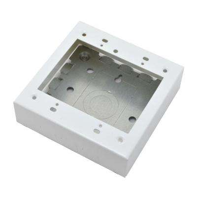 Wiremold 700 Series Metal Surface Raceway 2-Gang Raceway Electrical Box, White