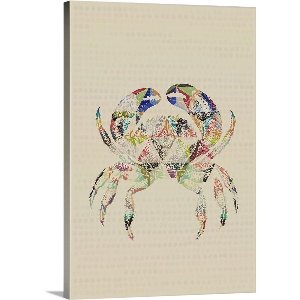 Greatcanvas Geometric Shape Animals Crab By Circle Art Group Canvas