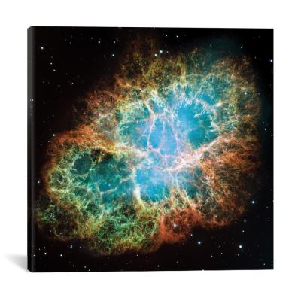 """Extreme Detail, Crab Nebula, Messier 1"" by NASA Canvas Wall Art"