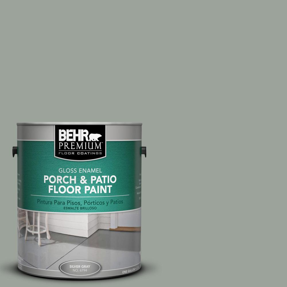 1 gal. #710F-4 Sage Gray Gloss Porch and Patio Floor Paint