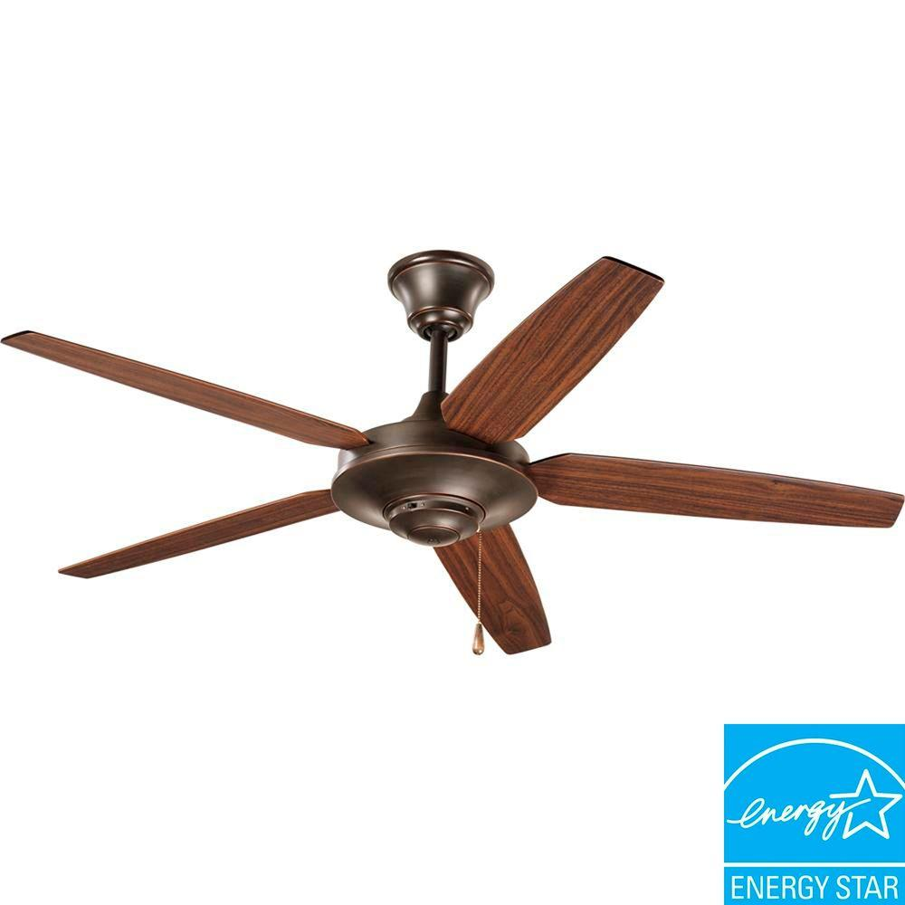 Progress Lighting AirPro Signature 54 In. Indoor Antique Bronze Ceiling Fan