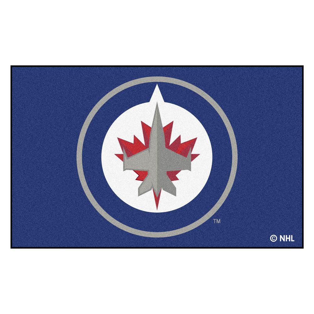 Fanmats Nhl Winnipeg Jets Navy 5 Ft X 8 Ft Area Rug