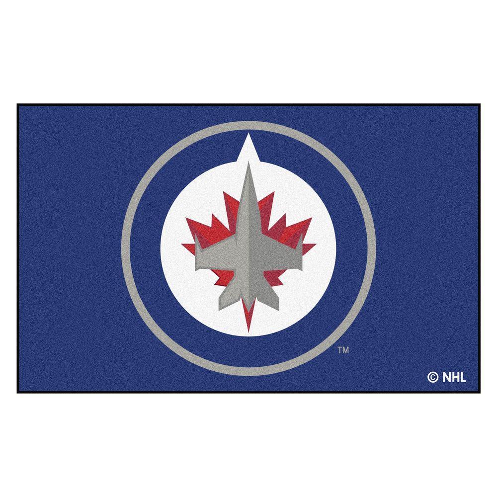 NHL Winnipeg Jets Navy 5 ft. x 8 ft. Area Rug