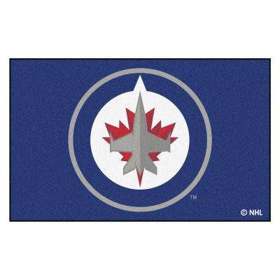NHL Winnipeg Jets Navy 5 ft. x 8 ft. Area Rug