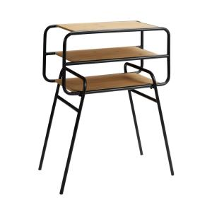 Woodhaven Wood And Metal Black And Brown Side Table