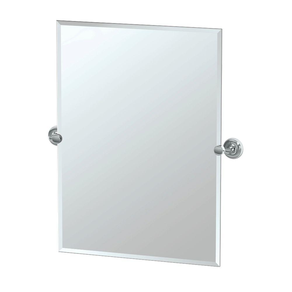 Gatco Designer II 29 in. x 32 in. Frameless Single Rectangle Mirror ...