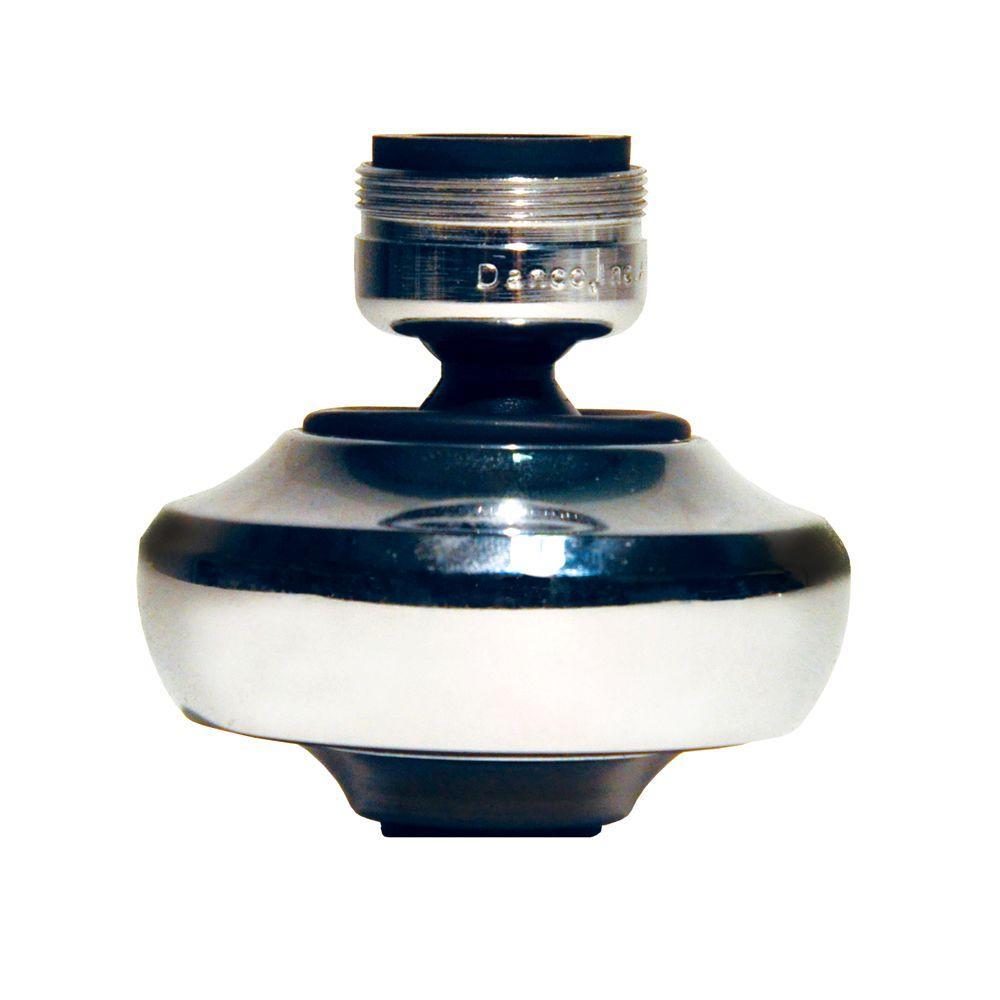 15/16 in. -27M x 55/64 in. -27F 1.5 GPM Chrome Dual Thread Premium Swivel Water-Saving Sprayrator