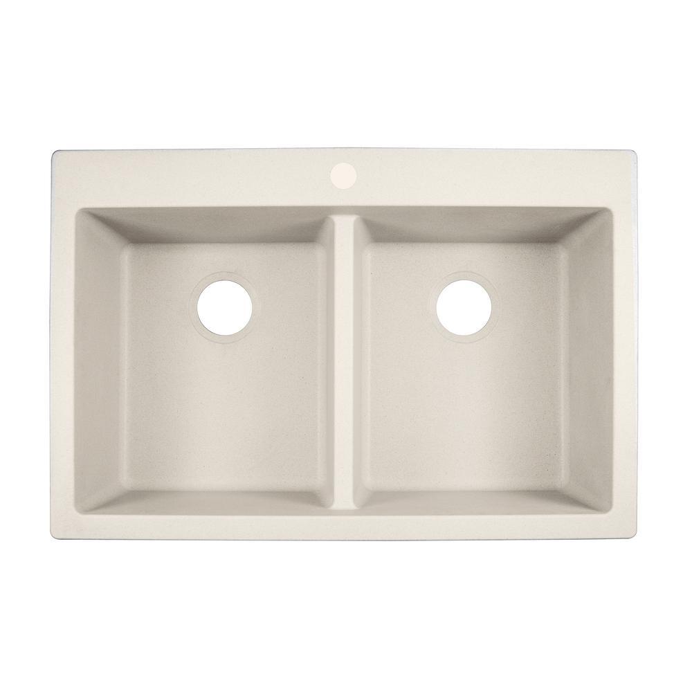 Franke Primo Dual Mount Granite Composite 33 In 1 Hole Double Basin Kitchen Sink