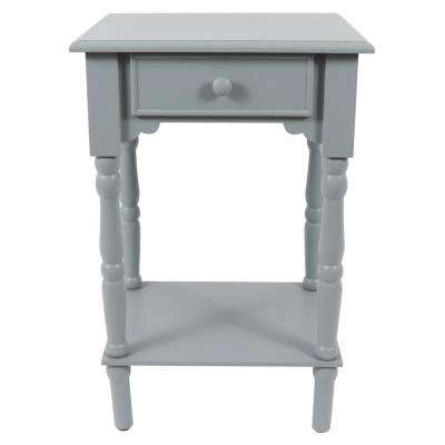 Gray Side Accent Table