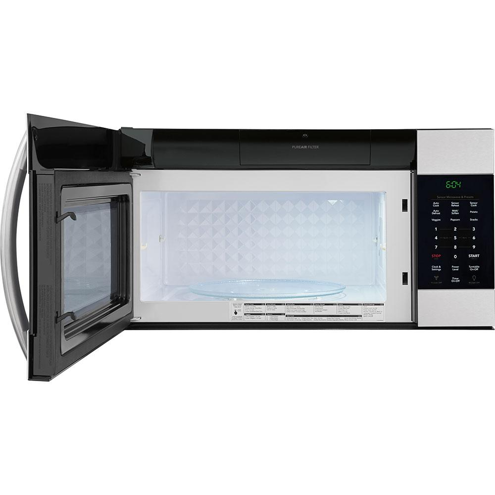 Frigidaire Gallery 1 7 Cu Ft Over The Range Microwave In Smudge Proof Stainless Steel With Sensor Cooking