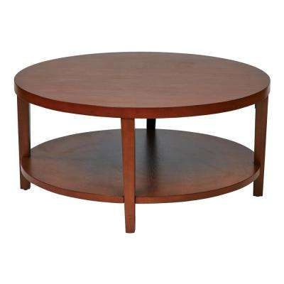 Merge 36 in. Cherry Round Coffee Table