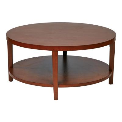 Merge 36 In Cherry Round Coffee Table