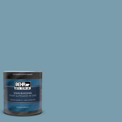 1 qt. #S470-4 Dolphin Blue Satin Enamel Exterior Paint and Primer in One