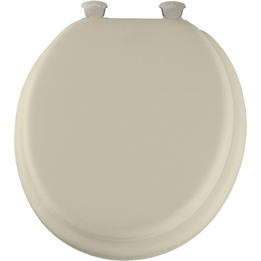 Soft Round Closed Front Toilet Seat in Bone