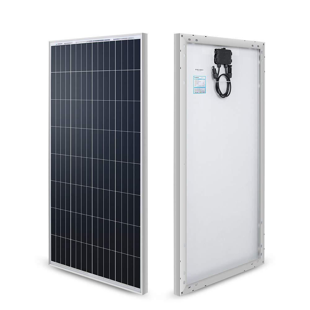 Renogy 100-Watt 12-Volt Monocrystalline Solar Panel (New Edition) for RV Boat Back-Up System Off-Grid Application