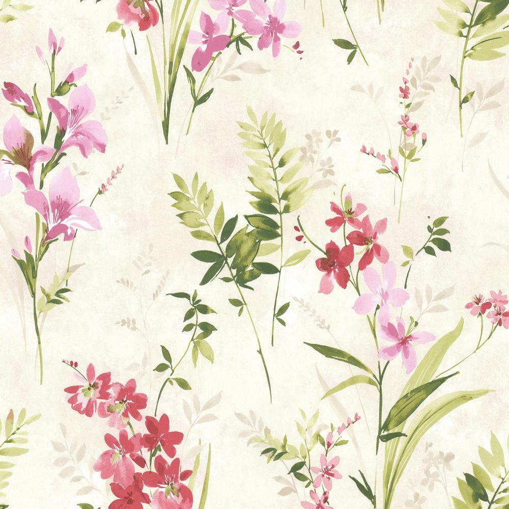 Turner Multicolor Watercolor Floral Wallpaper Sample