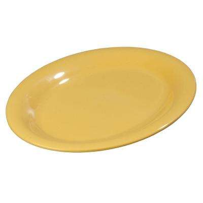 9 in. x 12 in. Melamine Oval Platter in Honey Yellow (Case of 12)