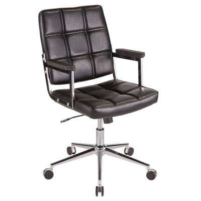 Bureau Black Faux Leather Office Chair