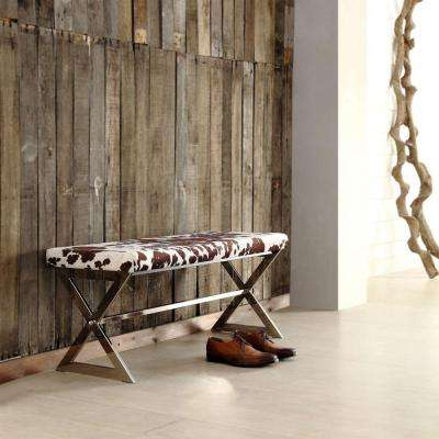 Richardson Cowhide Print Bench