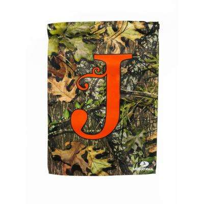 Mossy Oak 2-1/2 ft. x 3-2/3 ft. Monogrammed J 2-Sided Sublimated House Flag